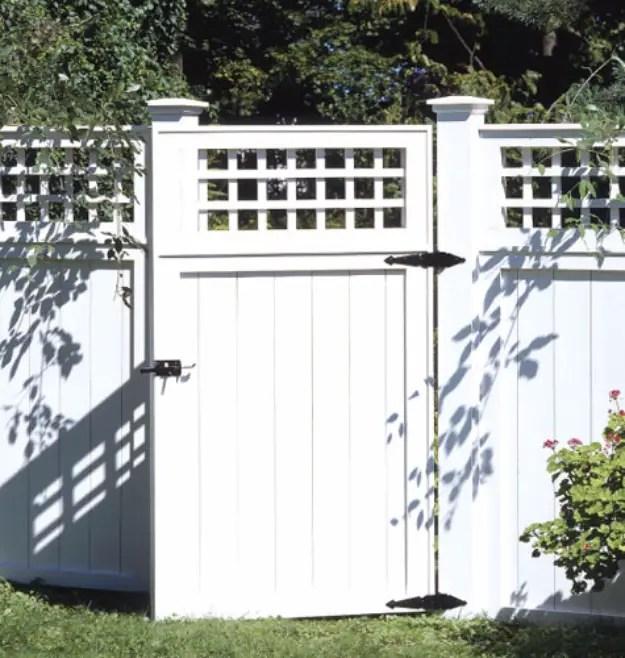 Classic backyard fence