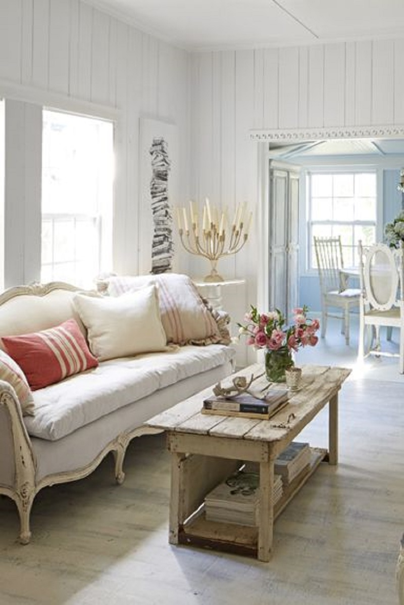 Simple Shabby Chic Living Room Decoration Ideas To Copy