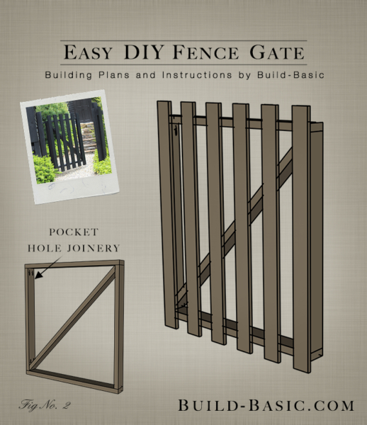 Easy diy fence gate