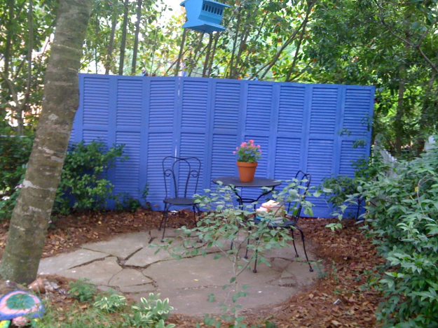 Re-purposed shutter fence