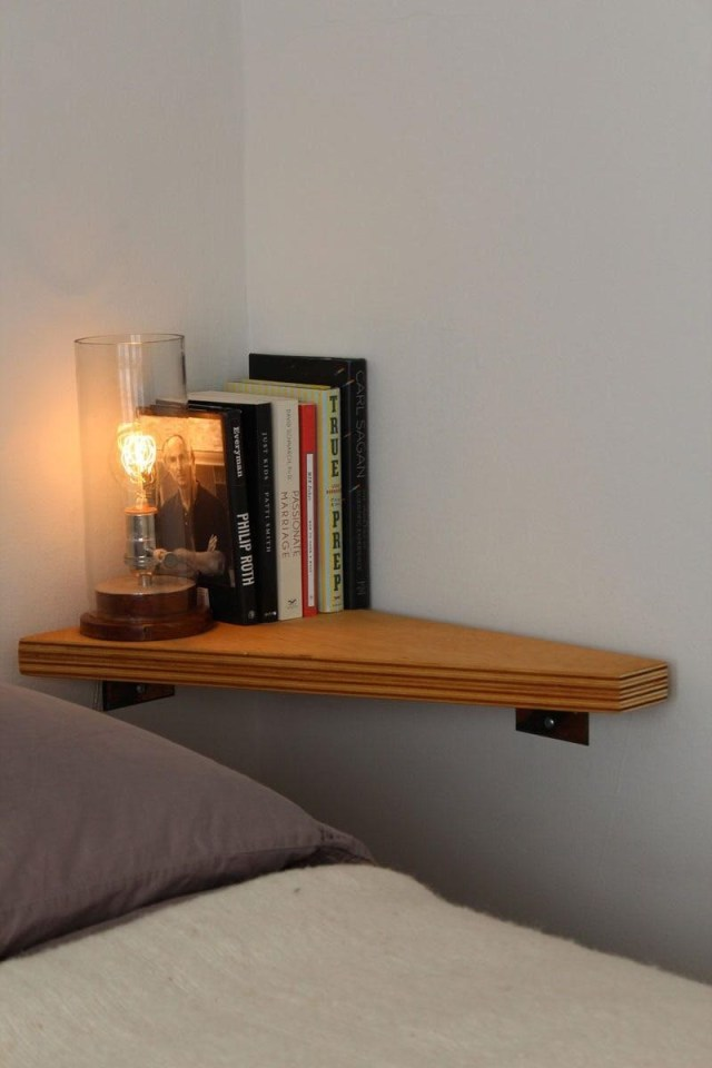 Wall shelf for the bedroom
