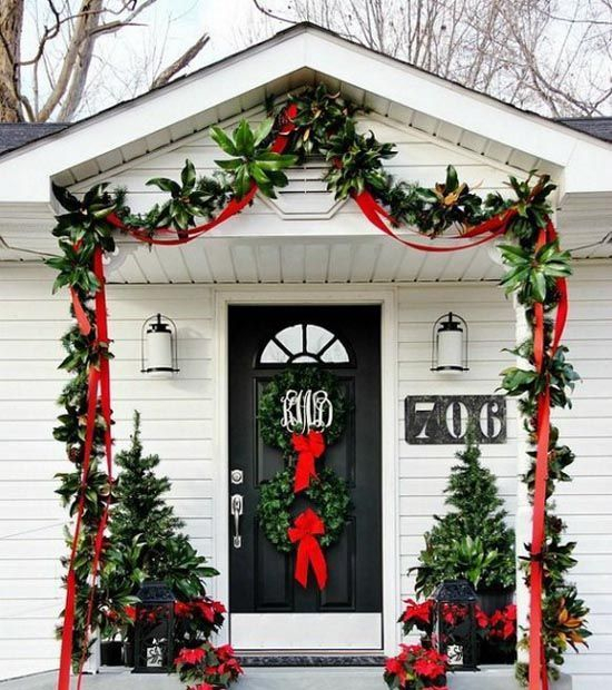 Adorable christmas porch décoration ideas 01
