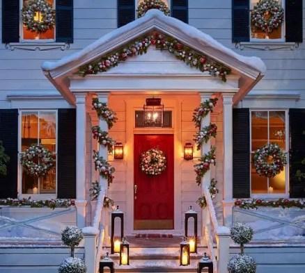Adorable christmas porch décoration ideas 06