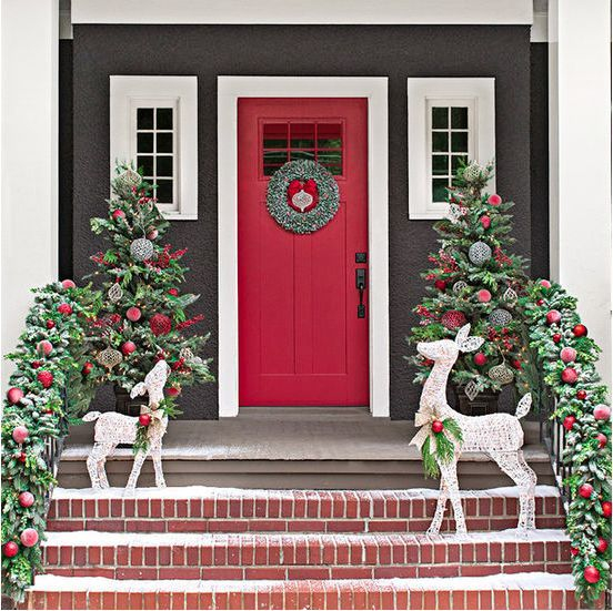 Adorable christmas porch décoration ideas 21