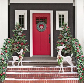 Adorable christmas porch décoration ideas 21