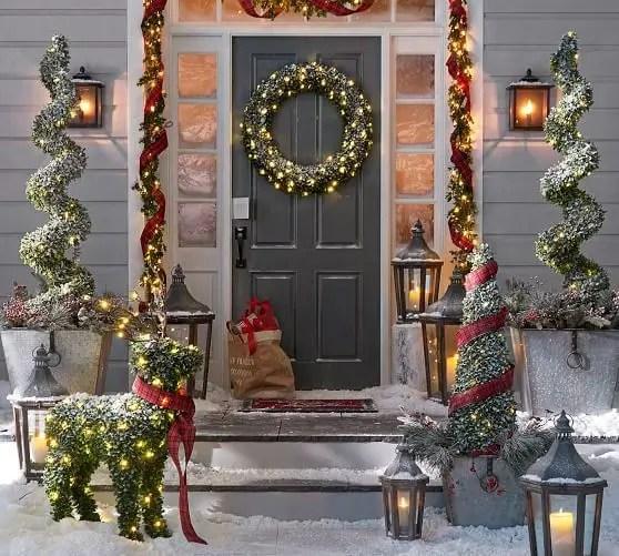 46 Adorable Christmas Porch Décoration Ideas