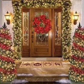 Adorable christmas porch décoration ideas 43