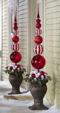 Adorable christmas porch décoration ideas 45