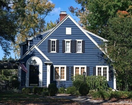 Exterior paint colors for house with brown roof 29