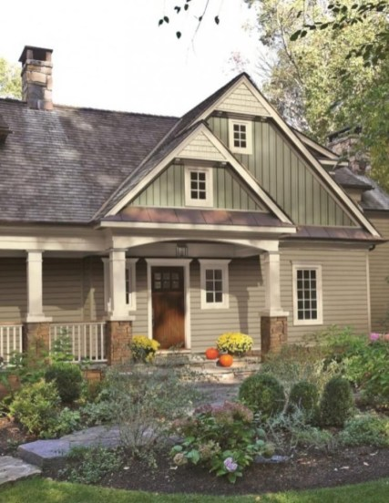 Exterior paint colors for house with brown roof 37