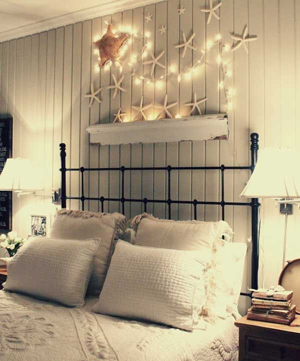 Awesome string light ideas for bedroom 10