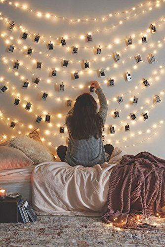 Awesome string light ideas for bedroom 14