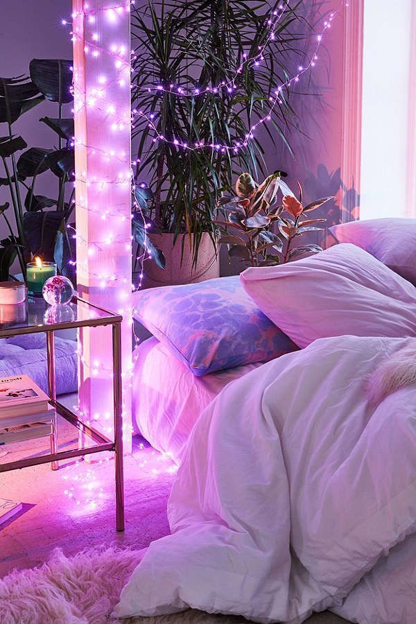 Awesome string light ideas for bedroom 35