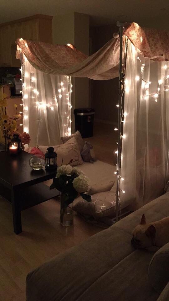 Awesome string light ideas for bedroom 47