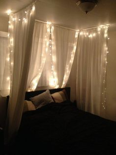 Awesome string light ideas for bedroom 61