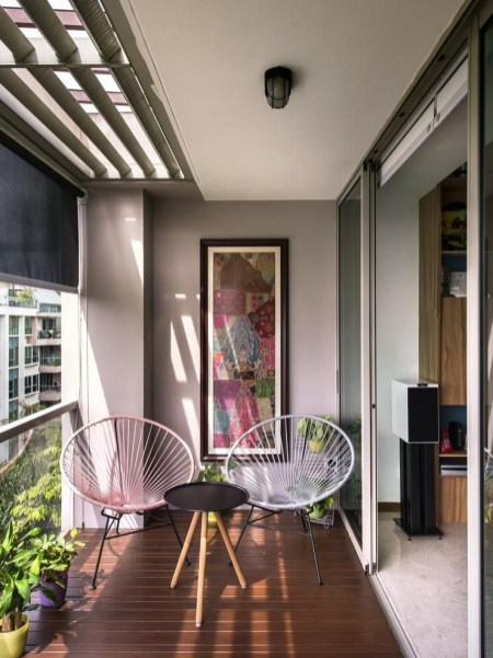 Creative small balcony design ideas for spring 20