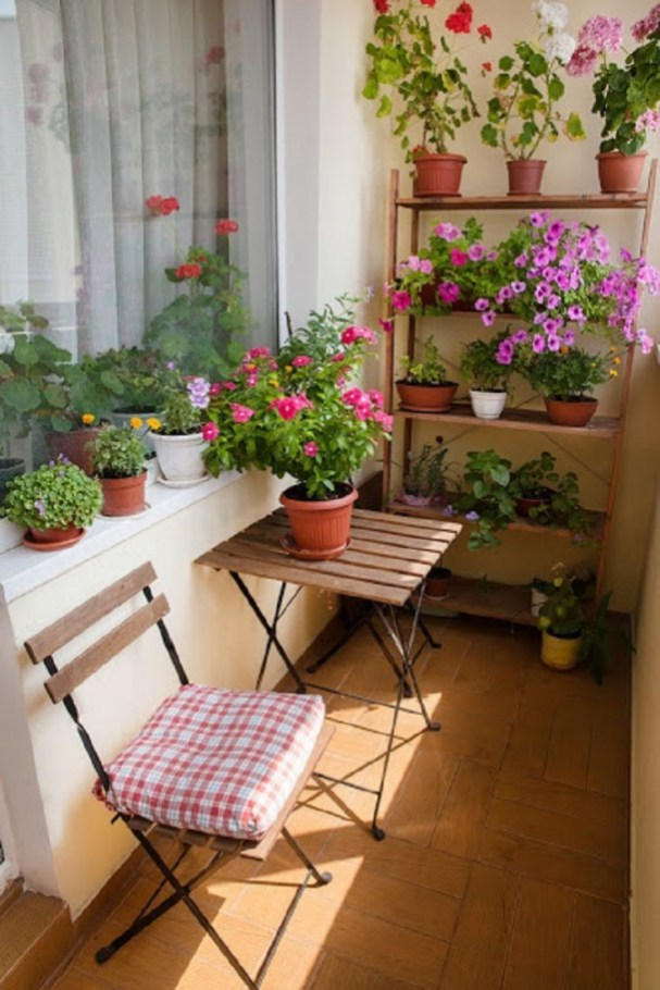 Creative small balcony design ideas for spring 63