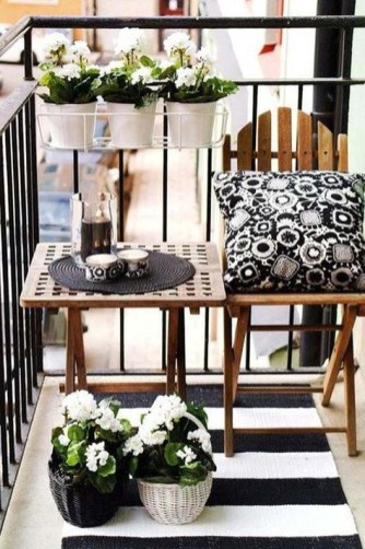 Creative small balcony design ideas for spring 65