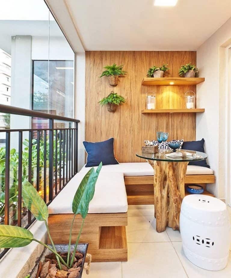 Creative small balcony design ideas for spring 66