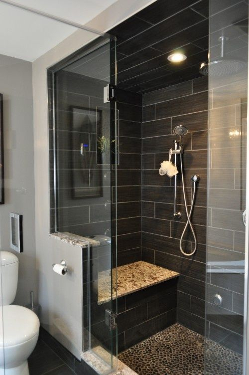 Elegant bathroom design with black walls 42