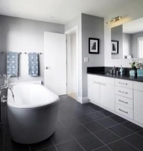 Elegant bathroom design with black walls 50