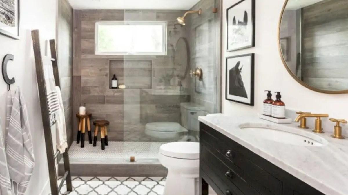 116 Rustic Farmhouse Bathroom Ideas with Shower