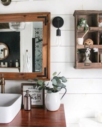 Rustic farmhouse bathroom ideas with shower 120