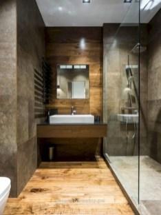 Rustic farmhouse bathroom ideas with shower 13