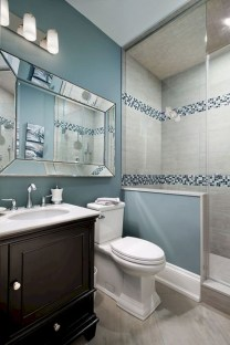 Rustic farmhouse bathroom ideas with shower 14