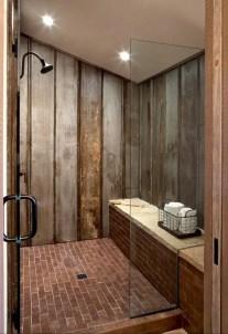 Rustic farmhouse bathroom ideas with shower 19
