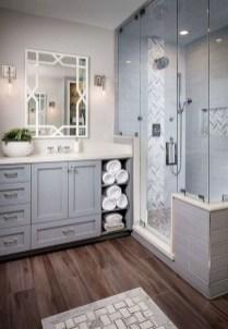 Rustic farmhouse bathroom ideas with shower 20