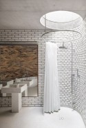 Rustic farmhouse bathroom ideas with shower 22
