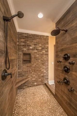 Rustic farmhouse bathroom ideas with shower 27
