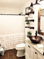Rustic farmhouse bathroom ideas with shower 29