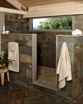 Rustic farmhouse bathroom ideas with shower 36