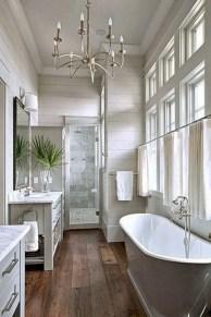 Rustic farmhouse bathroom ideas with shower 60