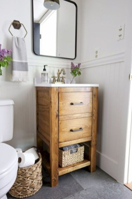 Rustic farmhouse bathroom ideas with shower 72