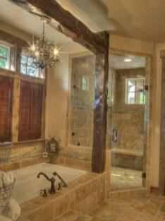 Rustic farmhouse bathroom ideas with shower 93