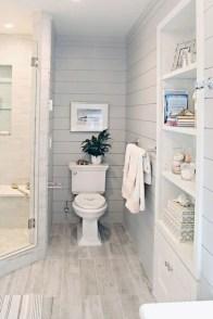 Rustic farmhouse bathroom ideas with shower 97