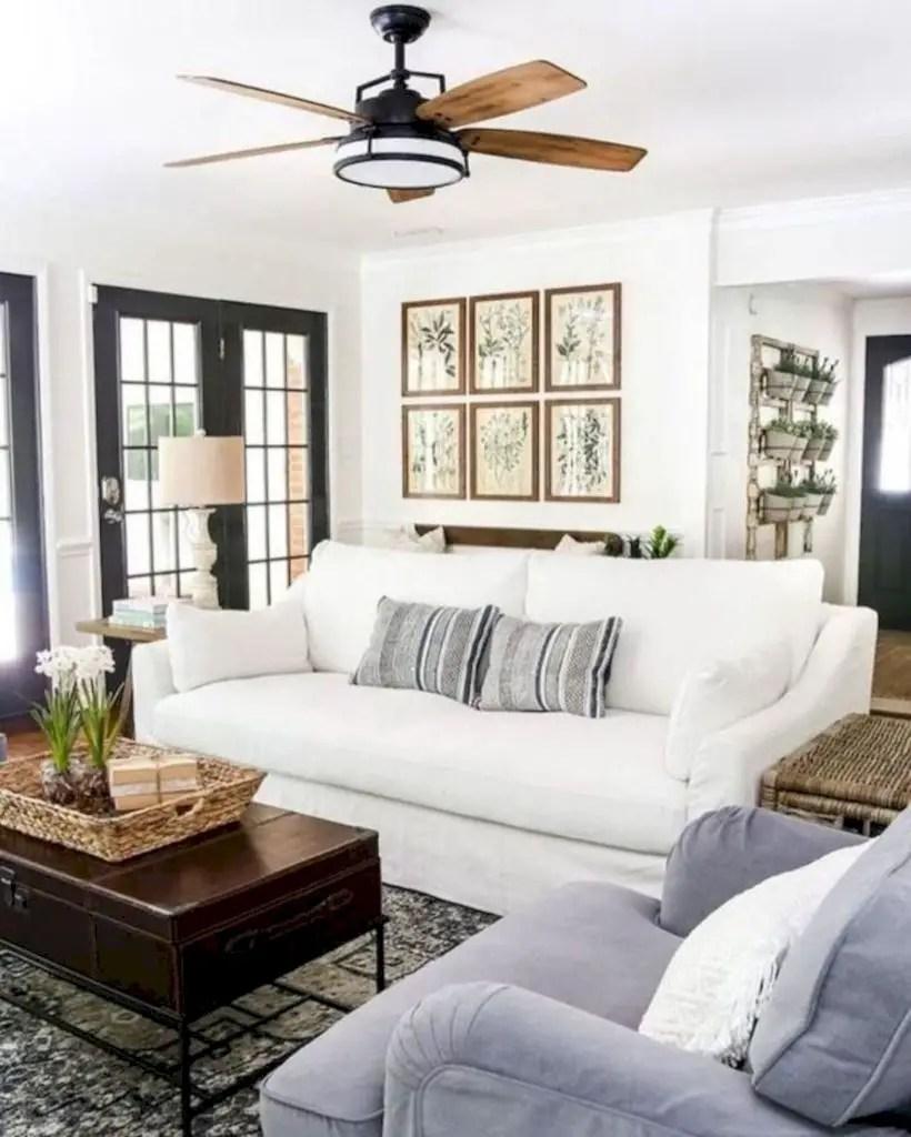 Rustic modern farmhouse living room decor ideas 03