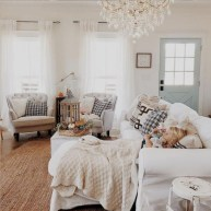 Rustic modern farmhouse living room decor ideas 10