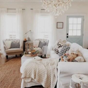 Rustic modern farmhouse living room decor ideas 10