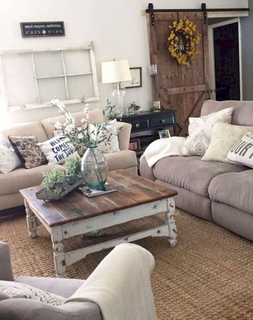 Rustic modern farmhouse living room decor ideas 101