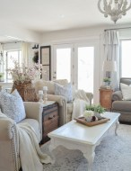 Rustic modern farmhouse living room decor ideas 110