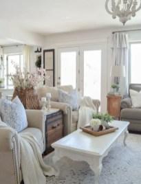 Rustic modern farmhouse living room decor ideas 110