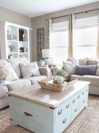 Rustic modern farmhouse living room decor ideas 112