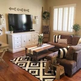 Rustic modern farmhouse living room decor ideas 114