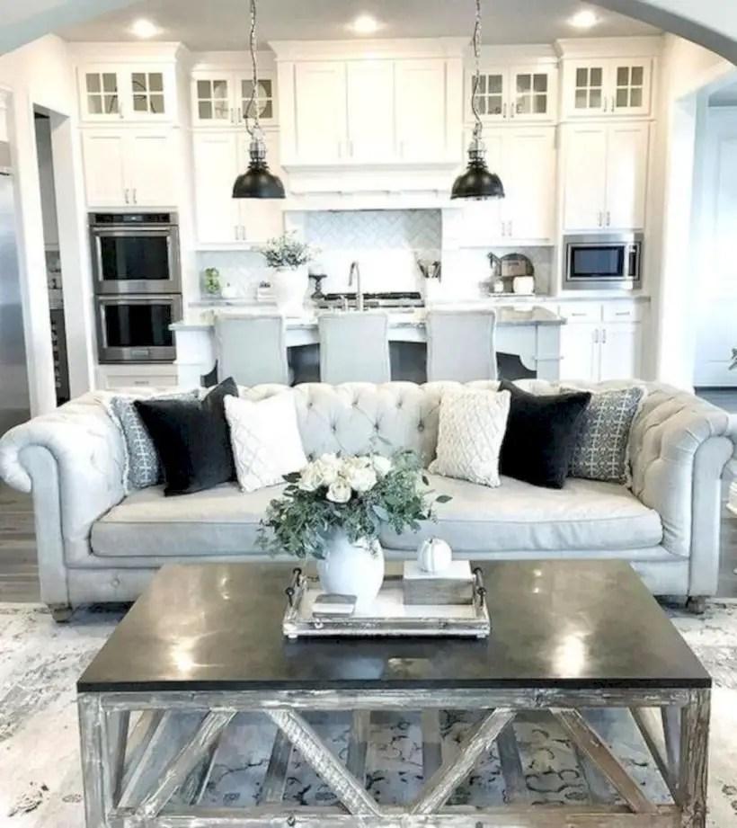 Rustic modern farmhouse living room decor ideas 120