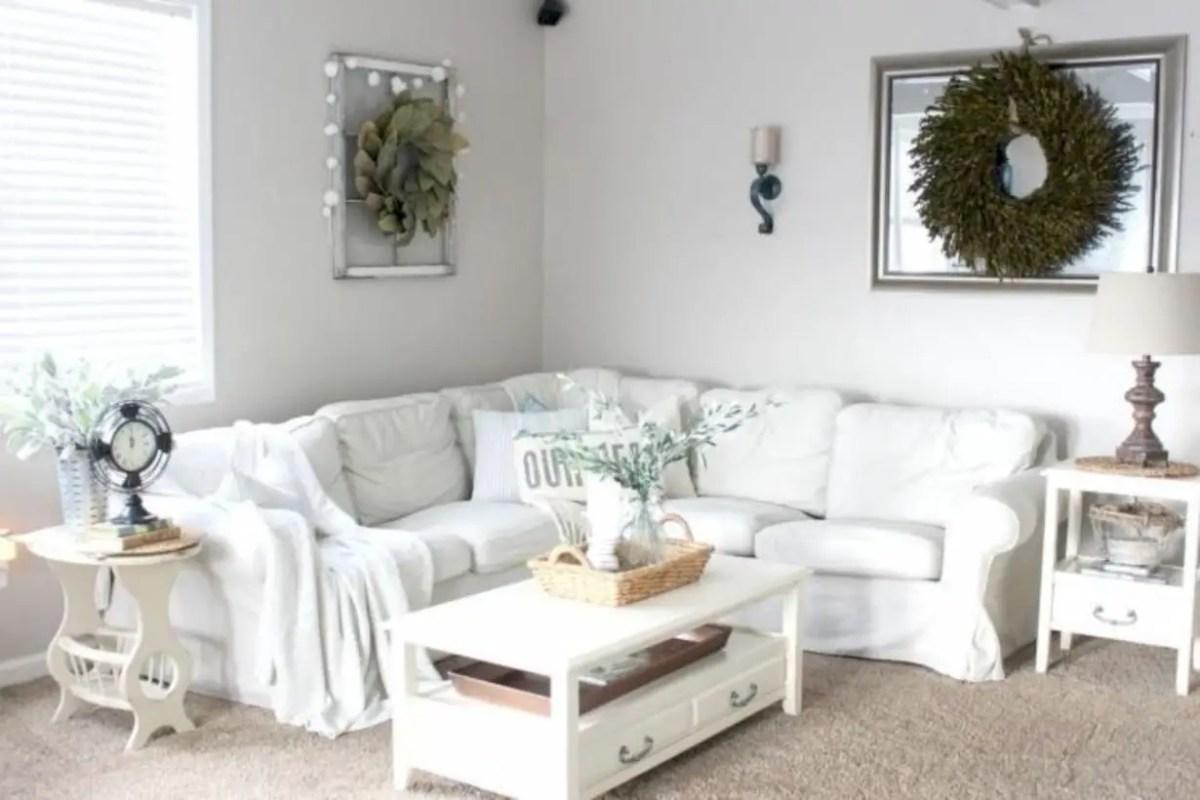 Rustic modern farmhouse living room decor ideas 125
