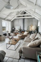 Rustic modern farmhouse living room decor ideas 16